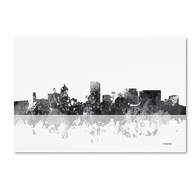 Trademark Fine Art Marlene Watson Portland Oregon Skyline BG-1 12 x 19 Canvas Stretched (190836197163)