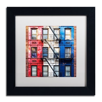 Trademark Fine Art Philippe Hugonnard American Colors 11 x 11 Matted Framed (190836120970)