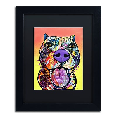 Trademark Fine Art Dean Russo Bark Dont Bite 11 x 14 Matted Framed (190836155286)