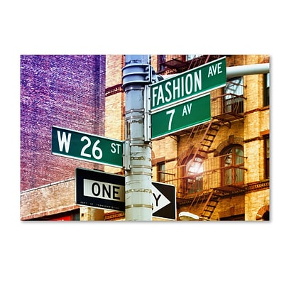 Trademark Fine Art Philippe Hugonnard Fashion Avenue New York 12 x 19 Canvas Stretched (190836099962)