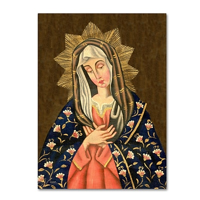 Trademark Fine Art Sergio Cruze The Virgin II 14 x 19 Canvas Stretched (190836012046)