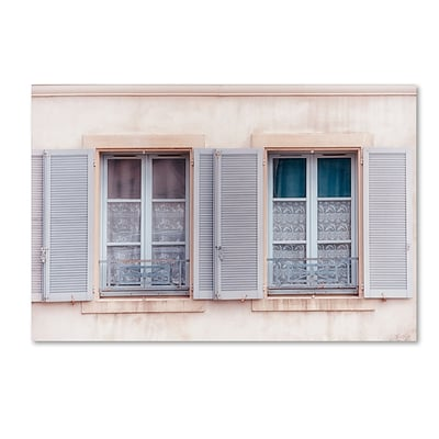 Trademark Fine Art Cora Niele French Windows II 12 x 19 Canvas Stretched (190836313303)
