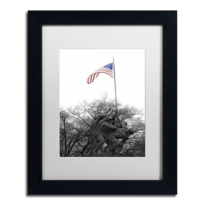 Trademark Fine Art CATeyes Courage 11 x 14 Matted Framed (190836098392)