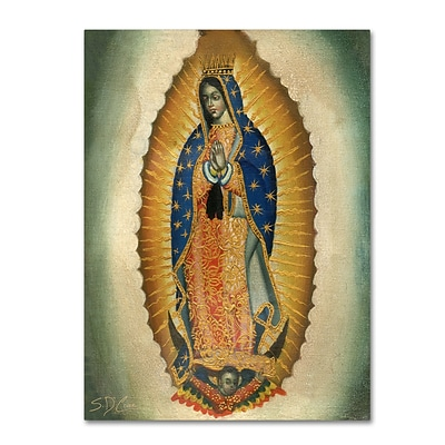 Trademark Fine Art Sergio Cruze The Virgin 14 x 19 Canvas Stretched (190836012527)