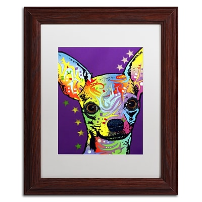 Trademark Fine Art Dean Russo Chihuahua II 11 x 14 Matted Framed (190836146703)