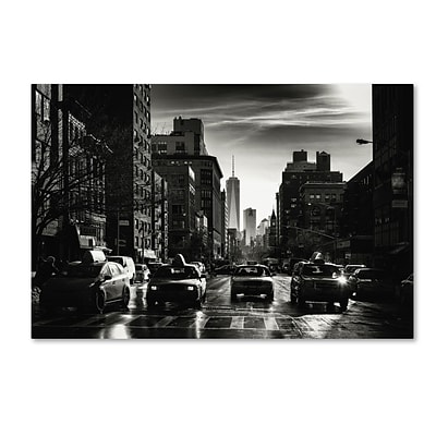 Trademark Fine Art Philippe Hugonnard Gotham Taxi NYC 12 x 19 Canvas Stretched (190836048533)