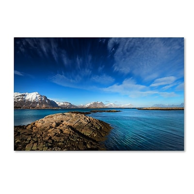 Trademark Fine Art Philippe Sainte-Laudy Blue Moment 12 x 19 Canvas Stretched (190836219148)