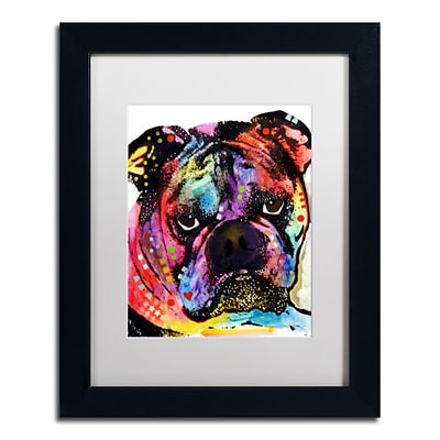 Trademark Fine Art Dean Russo Bulldog 11 x 14 Matted Framed (190836166992)