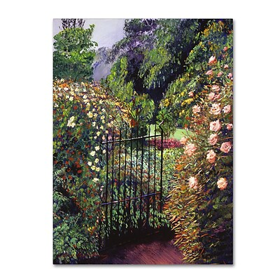 Trademark Fine Art David Lloyd Glover Quiet Garden Entrance 14 x 19 Canvas Stretched (190836225286)