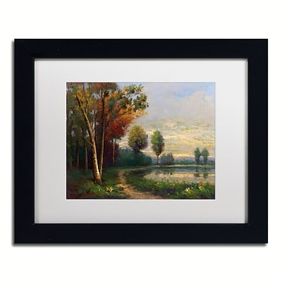 Trademark Fine Art Daniel Moises Landscape with a Lake 11 x 14 Matted Framed (190836189939)