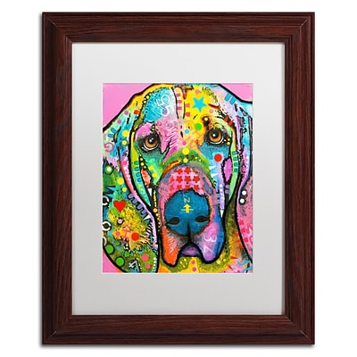 Trademark Fine Art Dean Russo Bloodhound 11 x 14 Matted Framed (190836138609)