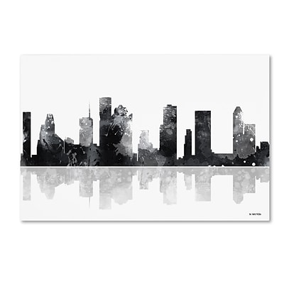 Trademark Fine Art Marlene Watson Houston Texas Skyline BG-1 12 x 19 Canvas Stretched (190836193523)