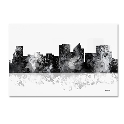 Trademark Fine Art Marlene Watson Witchita Kansas Skyline BG-1 12 x 19 Canvas Stretched (190836199969)
