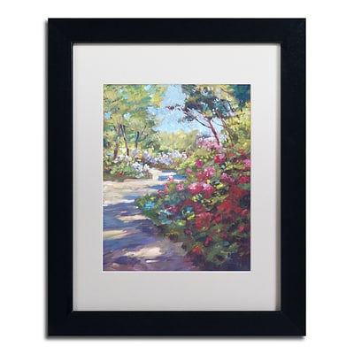 Trademark Fine Art David Lloyd Glover Arboretum Garden Path 11 x 14 Matted Framed (190836227785)