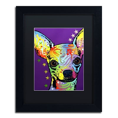Trademark Fine Art Dean Russo Chihuahua II 11 x 14 Matted Framed (190836146581)