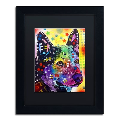 Trademark Fine Art Dean Russo Aus Cattle Dog 11 x 14 Matted Framed (190836165780)