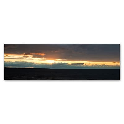Trademark Fine Art Kurt Shaffer April Setting Sun over Lake Erie 8 x 24 Canvas Stretched (886511961517)