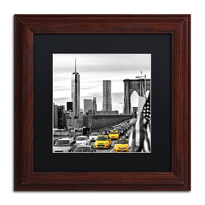 Trademark Fine Art Philippe Hugonnard Taxis in New York 11 x 11 Matted Framed (190836121328)