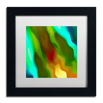 Trademark Fine Art Amy Vangsgard River Runs Through Square 2 11 x 11 Matted Framed (886511935945)