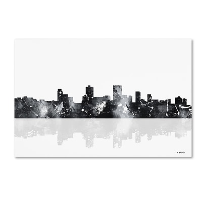 Trademark Fine Art Marlene Watson Anchorage Alaska Skyline BG-1 12 x 19 Canvas Stretched (190836190300)