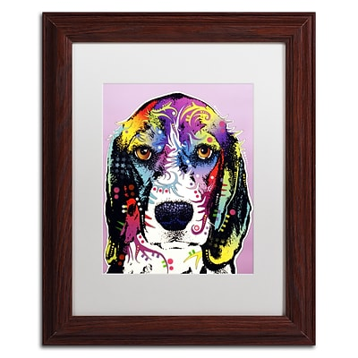 Trademark Fine Art Dean Russo 4 Beagle 11 x 14 Matted Framed (190836160501)