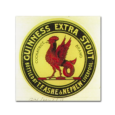 Trademark Fine Art Guinness Brewery Guinness Extra Stout 18 x 18 Wall Art (190836244287)