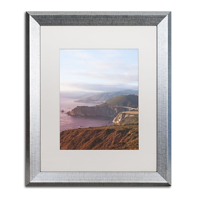 Trademark Fine Art Ariane Moshayedi Big Sur Coast Sunset 16 x 20 Matted Framed (190836263790)