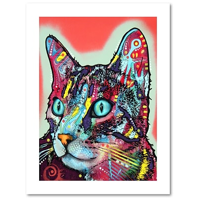 Trademark Fine Art Dean Russo Curious Cat 18 x 24 Paper Rolled (190836157075)
