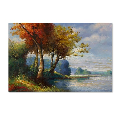 Trademark Fine Art Daniel Moises Corot Tribute 12 x 19 Canvas Stretched (190836236107)