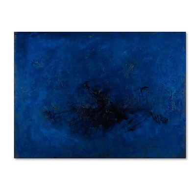 Trademark Fine Art Joarez Deep Blue 14 x 19 Canvas Stretched (190836233908)