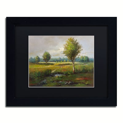 Trademark Fine Art Daniel Moises Lonely Tree 11 x 14 Matted Framed (190836189700)