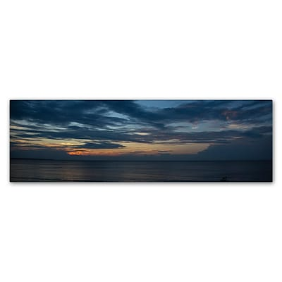 Trademark Fine Art Kurt Shaffer Sunset Behind a Front 6 x 19 Canvas Stretched (190836008490)