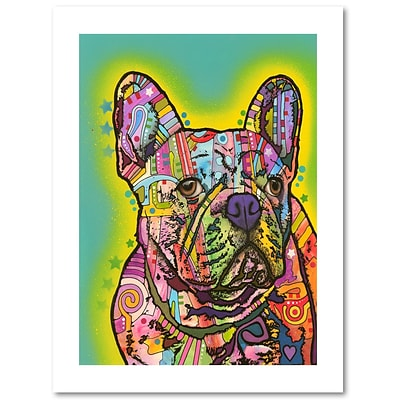 Trademark Fine Art Dean Russo French Bulldog III 18 x 24 Paper Rolled (190836135479)