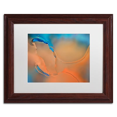 Trademark Fine Art Cora Niele Blue and Orange Flow 11 x 14 Matted Framed (190836253401)