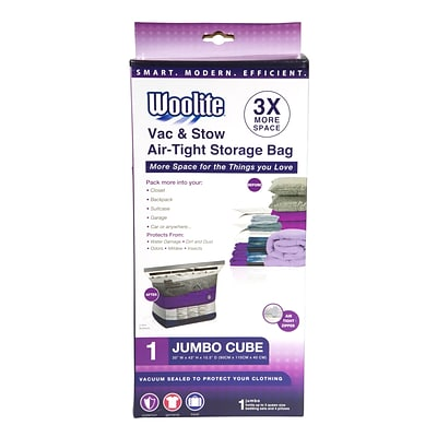 Woolite Air-Tight Jumbo Cube Vacuum Storage Bags
