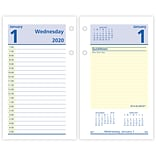 2020 AT-A-GLANCE 3 1/2 x 6 Daily Loose-Leaf Desk Calendar Refill QuickNotes (E517-50-20)