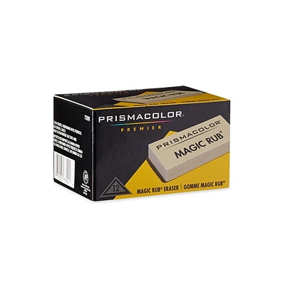 Prismacolor Magic Rub Erasers, Ivory, Dozen (73201)