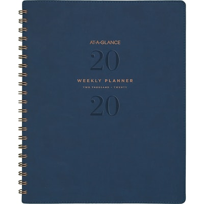 2020 AT-A-GLANCE 8 1/2 x 11 Weekly/Monthly Planner Signature Collection Navy (YP905-2020)