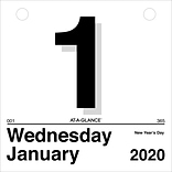 "2020 AT-A-GLANCE 6 x 6 ""Today Is"" Daily Wall Calendar Refill (K1-50-20)"