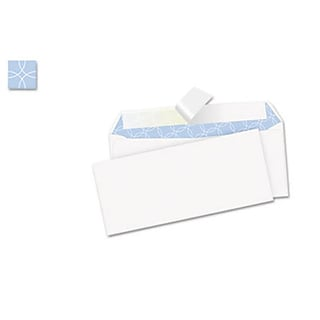 Quality Park Products® Cirrus 4 1/8 x 9 1/2 White 24 lbs. Lightweight Security Envelopes, 100/Pack