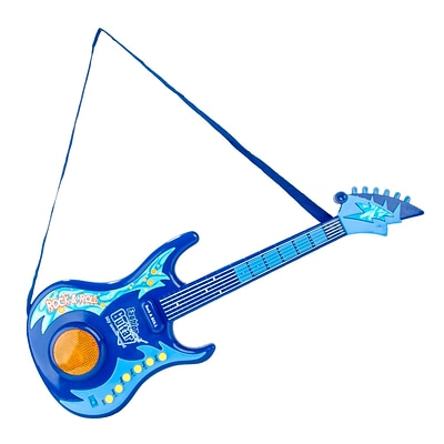 BlueBlockFactory Musical Rock n Roll Guitar Toy Set Blue