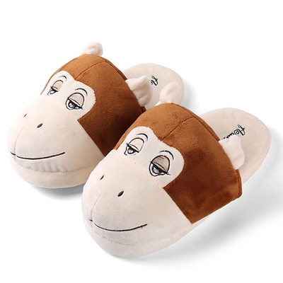 Aerusi Plush Animal Kid Slipper Size 1 to 3 Monkey