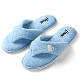 Aerusi Woman Splash Spa Slipper Home Blue Size 11 - 12