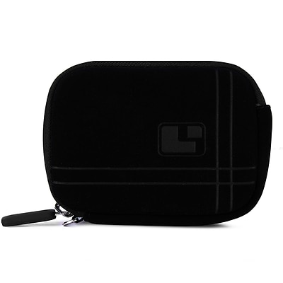 SumacLife  Microfiber Point and Shoot Camera Pouch Black
