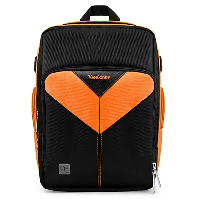 Vangoddy Sparta SLR DSLR Camera Backpack Black Orange