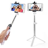 Vangoddy Bluetooth Remote Control Selfie Stick And Mini Tripod white