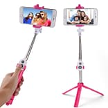 Vangoddy Bluetooth Remote Control Selfie Stick And Mini Tripod Pink