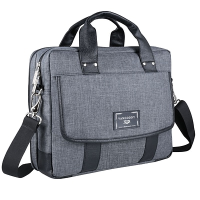 Vangoddy Chrono Grey Laptop Messenger Bag 17.3 Inch