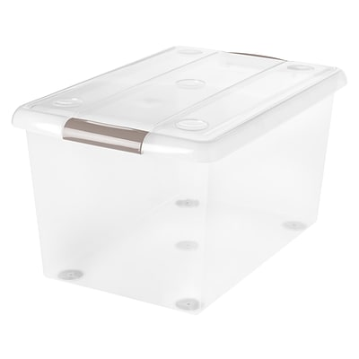 IRIS® 61 Qt Store and Slide Storage Box, Clear, 6 Pack (170346)