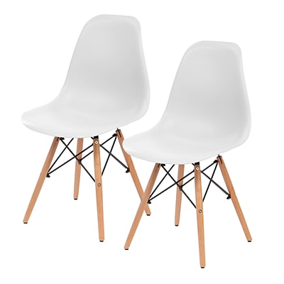 IRIS® Plastic Shell Chair, 2 Pack, White (586700)